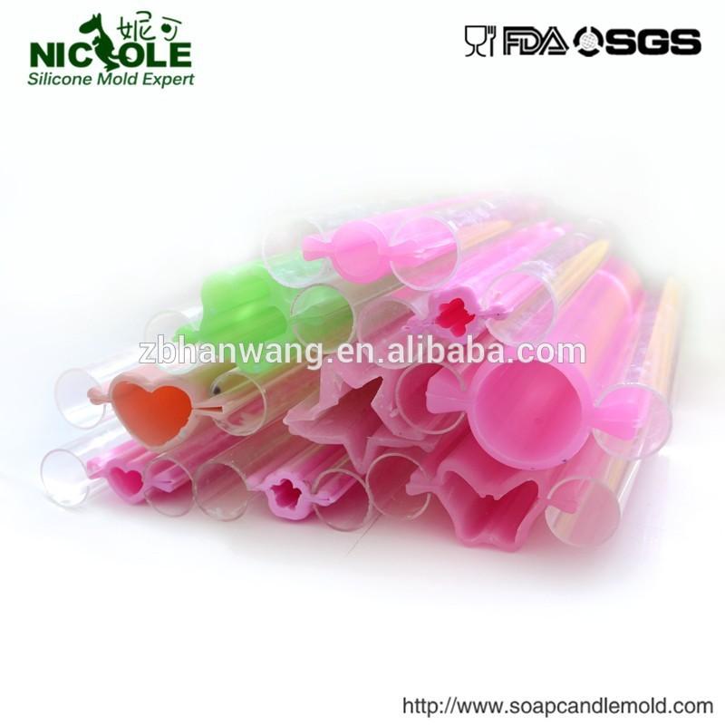 nicole fabrika doğrudan özel yapılan küçük kalp tüpü sabun kalıpları silikon sabun kalıbı t0001