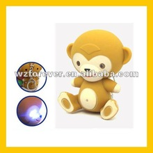 LED Key chain Monkey Shaped LED Flash Light Keychain Kids Keychain