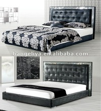 Crocodile skin furniture pu cheapest bed 909B#