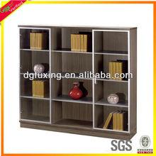 Panel furniture ,Glass door cabinet bookcase design