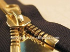 #5 golden color Y teeth open end metal zipper