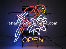 Flashing chasing open neon sign/ 2014 new design technology open neon light