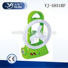 yajia light YJ-5851RF led rechargeable fan light