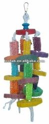 new design loofah parrot pet toys