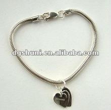 snake chain heart bracelet