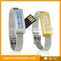8gb jewelry usb memory stick bracelet pen drive