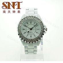2013Fashion new ladies watch japan quartz diamond watch women luxury white watch