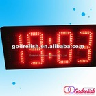 large digital wall clock