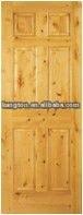 clear pine solid wooden door