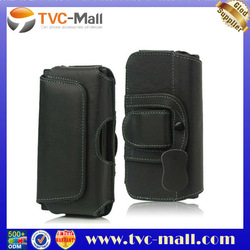 Leather Belt Clip Holster Pouch Case for Sony Xperia S LT26i LT26a / iPhone 4 4S