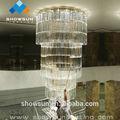 gran lámpara de araña de cristal para el hotel