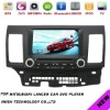 "2 dins 8"" HD digital car navigation entertainment system for mitsubishi lancer Android 4.0"