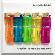 8.0 cm LED refillable gas lighters Flint/Cigaretter Plastic Lighters
