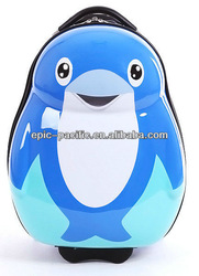 PC / ABS dolphin animal children kids rolling luggage/trolley cartoon luggage GM12032