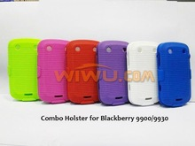 mobile phone combo case for Blackberry 9930/9900 with Belt Clip and Stand