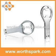 4gb metal bottle opener USB memory with laser logo/silk logo