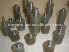 high precision polyurethane rubber roller wheel made per drawing, stainless steel roller inside (various hardness)