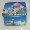 De dibujos animados decoración cuadrados de forma lata de galletas puede/lata del caramelo puede