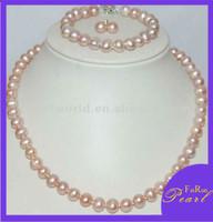 2015 8mm fashion Bridal Freshwater Pearl Jewelry Sets