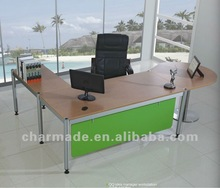 QQ idea L shape manager office table design / office furniture director desk