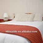 Hotel 100% Polyester Fire Retardant Bed Runner