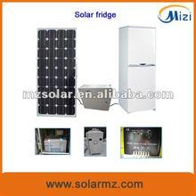 2012 Newest design DC 12V 172LSolar refrigerator freezer freezer system with CE,CB