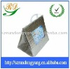 silver Aluminium foil square bottom handle bags