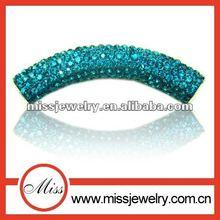 shamballa crstal bar charm beads for DIY bracelet&pendant
