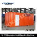 2014 conteneurisé 10ton/day flocon. glace, usine pour la production de viande company| ammoniaqués flocon. glace, plant|marine dessalinisateur