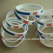 Custom thin silicone wristbands