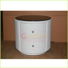 newest storage french side table with two drawers