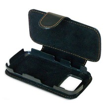 Black Cell Phone Leather Case for Nokia N97
