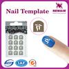 Lowest price nail art template ,nail art stencil ,nail plate