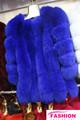 Gracefurl prenda de piel de zorro abrigo de pieles/real de piel de zorro abrigo para las mujeres/prendas de vestir de piel