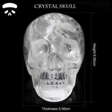 "DOI Wholesale 3"" clear rock Crystal quartz crystal skull for sale,hand carved crystal skull carving for home decoration"