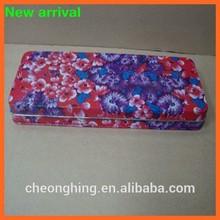 Metal Rectangle Tin Case Pencil Tin Box