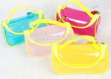 cheap fashion custom shining pvc bag for cosmetic promotion