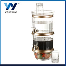 new product roman column style acrylic juice dispenser