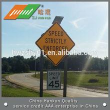 Octagon symbol traffic road solar signs
