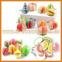 Popular various fruit shaped memo pad
