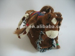 Hand bag with plush horse
