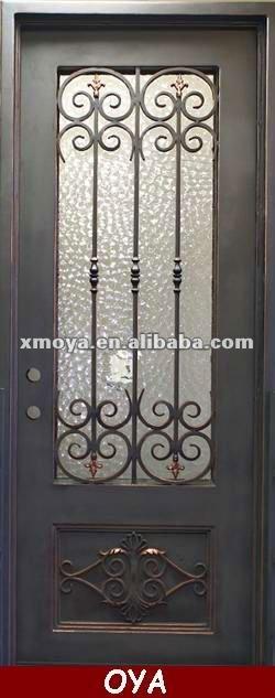 Franc s ventana de la casa de hierro forjado parrilla for Disenos de puertas de hierro