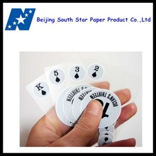Top quality custom plastic playing cards/poker
