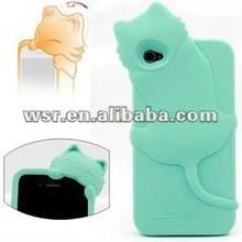 Cathead Silicone Rubber Sleeve For Apple Iphone 4 4s