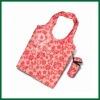 Colorful nylon reusable foldable shopping bag