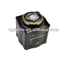 Tea and coffee tin canister with special lid