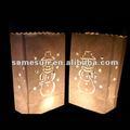 luminaria de papel kraft bolsas de favorecer a la fuente del partido