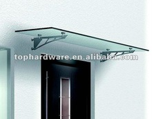Steel door canopy glass canopy