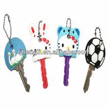 Custom Lovely mini soft pvc led keychain