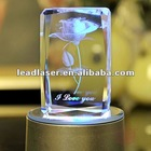 2013 3D laser engraved crystal wedding gifts